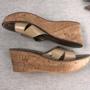 c012cd389b14 Sam Edelman Shoes - Sam Edelman Sandal Size 8.5 Reid Nude Cork Wedge